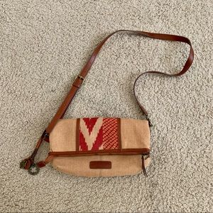 Lucky Brand Foldover Canvas Bag